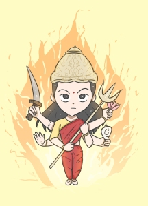 Nandni_Mata_Durga__With_Fire_BG__Full_Size